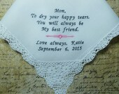 MOTHER of the BRIDE Wedding Handkerchief Gift-Embroidered Mother of the Bride Hankerchief