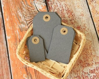 GREY Reinforced Luggage Tags