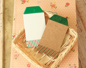 Bookmarks SPRING STRIPES luggage hang Tags craft label