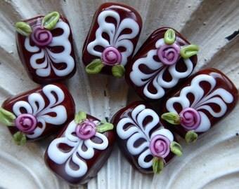 Destash Lampwork Beads Chocolate by Margo Lampwork