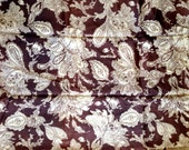 Vintage 60's Purple/Brown and Ivory Paisley Print Acetate Fabric - Great for a Stunning Lining 3 yards