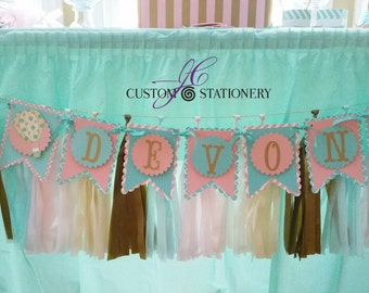 Personalized Hot Air Balloon Banner