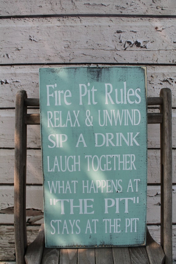 Items similar to Fire pit Rules campfire rules Backyard ...