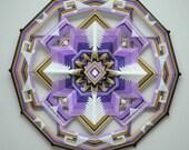 Peace Within, a 24 inch, wool yarn, Ojo de Dios, by Custom Order