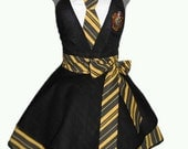 House Colors Retro Apron - Hufflepuff *Made to order*