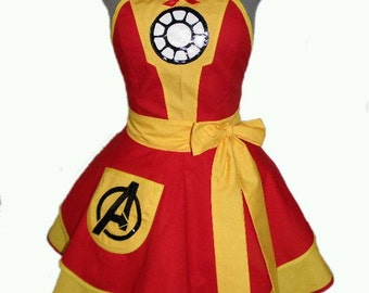 Iron Man Avengers Cosplay Apron *Made to order*