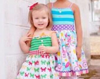 Dress Sewing Pattern, Girls Dress Pattern, Matilda Jane Pattern, Homegrown Tank, Knit Woven Sewing Pattern, Easy Dress Sewing Pattern