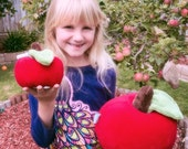 Big Apple Plush Toy - Red or Green Garden Apple Plush Toy - Kids Giant stuffed Apple Plushie - Oversized Stuffed Apple Toy - Apple Pillow