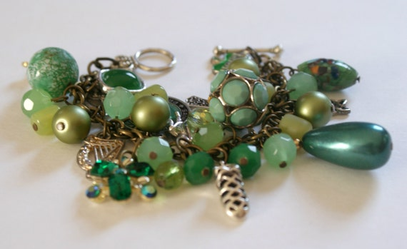 Irish Dance Charm Bracelet with Vintage and Repurposed Charms
