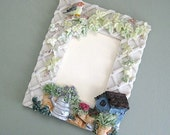 Garden Frame 5 x 7 Picture Frame 5x7 Photo Frame Flower Frame Floral Frame Small Frame Bird Frame Summer Frame Resin Frame Gift for Gardener