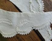 Vintage Collar 1930s Victorian Civil War reenactment laurel trim on cotton