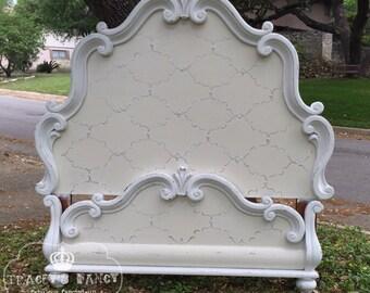 Curvy Romantic Queen Bed
