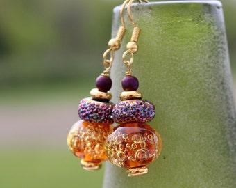 Colorful Lampwork Earrings