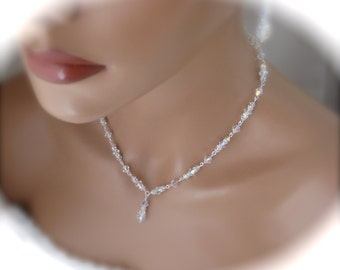 Swarovski crystal necklace and earrings wedding jewelry bridal necklace set bridal jewelry