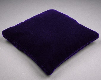 3.5 Inch Small Size Dark Purple Velvet Crystal Pillow Sphere Stand, CPV2S