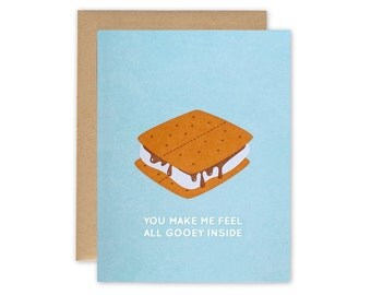 S'more Card – Letterpress Card, Valentines Day Card, Food Card, Love Card