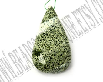 Green Zebra Jasper Faceted Focal Pear Pendant (Quality A) / 21x37 mm / 6 to 8 Grms / GREE-028