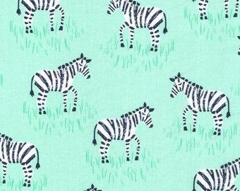 Michael Miller CX6549-MINT-D Mini Zebras Fabric by the Yard
