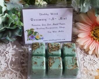Rosemary & Mint Soy Tarts, Tarts, Clam shell tarts