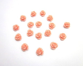 Coral Cabochons -- Coral Flower Supply -- Wholesale Coral Cabochons -- Coral Cabs -- DIY Resin Rose -- Coral Flower Pieces -- Mini Coral