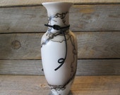 Horse Hair Pottery Skinny Vase #3 , made in Wyoming