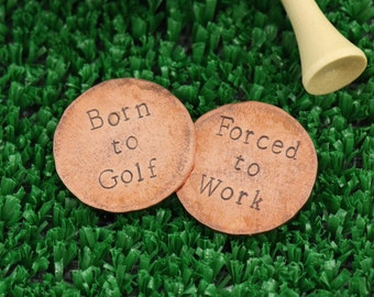 SALE - Personalized Father's Gift - Birthday Present - Custom Golf Ball Markers - Personalized Ball Markers - Birthday Gift - Golfer Gift
