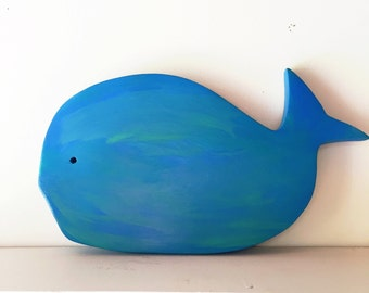 Wooden Whale Decor