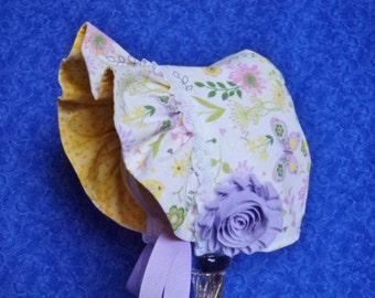 Pastel Baby Bonnet Reversible