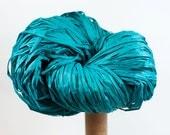 Teal Paper Raffia - Paper Ribbon: 120 yards (110m) - Fiber Arts, Knit, DIY, Gift Wrapping, Weave, etc. - Handwash