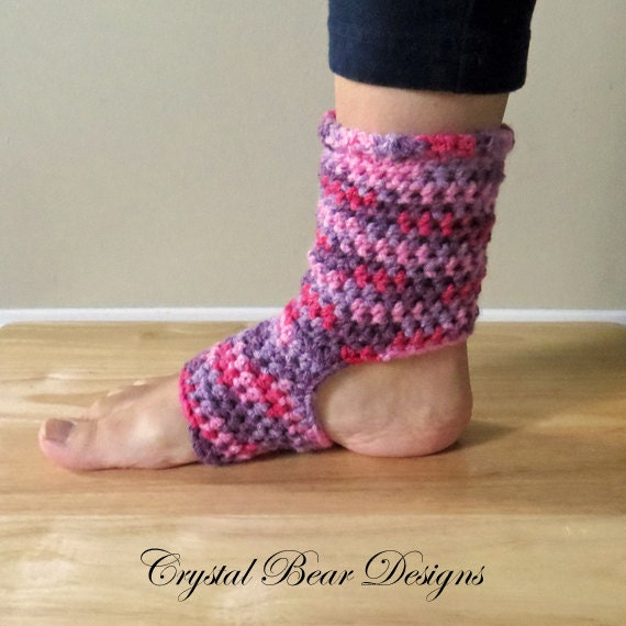 Crochet Pattern Yoga Socks : Crochet Yoga Socks PATTERN / Tutorial / Ladies Teen Child ...