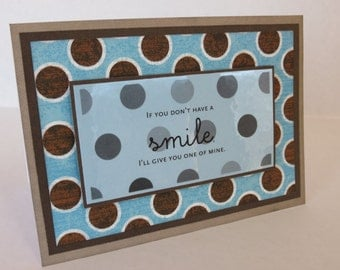 Give You A Smile Christian Friendship Card With Scripture
