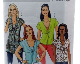 Butterick 4986, Misses' Top and Camisole Pattern, Sewing Pattern, Misses Size 8, 10, 12, 14, Uncut