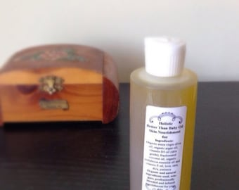 Organic 4oz Body Oil Better Than Baby Oil Skin Nourishment Body Oil Allover Body Oil Head to Toe Oil