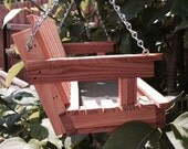 Bird Feeder, Wood Bird Feeder, Swing Bird Feeder - Cedar wood, optional personalization