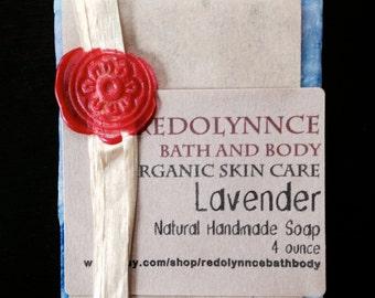 Lavender--Organic Soap.GMO free.Cruelty Free.Cold Process Vegan