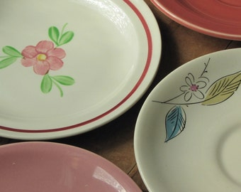 Instant Collection of 4 Small Vintage Plates or Saucers