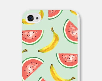 Mint iPhone 6 Case - Watermelon iPhone 6 Case - Fruit iPhone Case - Banana Phone Case - Banana iPhone 6 Case - Mint iPhone 5 Case Watermelon