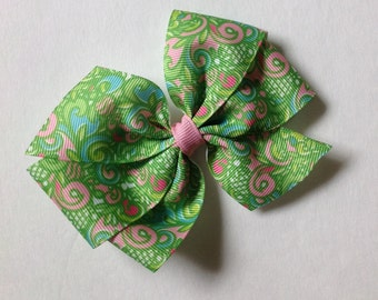 Lilly Inspired Pretty Preppy Bow by Cheryl's Bowtique