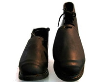Vintage Walker Welding Boots Made In The USA Mens Industrial Strength Black Leather Metatarsal Work Boots Mns US Size 9