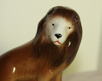 K's Collections LION Statue Ceramic Display Made in Brazil Vintage figurine