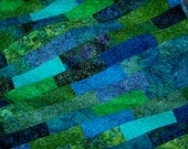 Sea Visions modern quilt wallhanging Proceeds go to Mission Blue charity