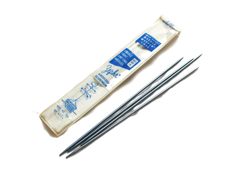 Knitting Needles Novelty : Vintage knitting needles size s aluminum zephr metal