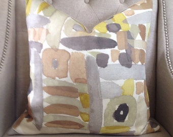 "Groundworks MORIYAMA pillow cover - 20""x20"" - Pattern on the front"