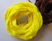 vintage BUMP CHENILLE - 12.75 yards - easter chick YELLOW