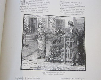 antique book - 1890 Golden Links in the Chain that Connect Mother Home and Heaven - Victorian Era
