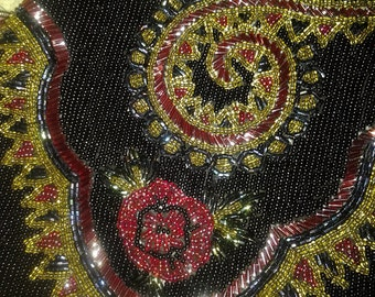 Vintage La Regale Heavy Beaded Bag