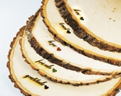 Rustic Wood Tree Slice Centerpieces, Trivets, Hot plates, Chargers -plain - 9 - 12 inch diameter