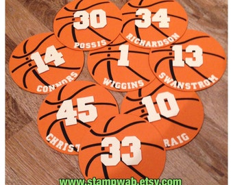 Personalized Basketball Die-Cuts (12)
