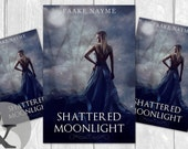 "Premade Digital eBook Book Cover Design ""Shattered Moonlight"" Indigo Young Adult Paranormal Romance Fantasy Girl in Gown"