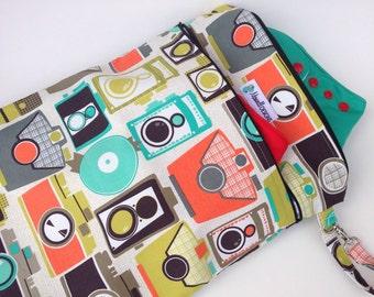 Wet Bag - Dry Bag Heat Sealed Medium - Apeture Tula Accessories 2 Seperate Zippered Pockets Aqua Camera
